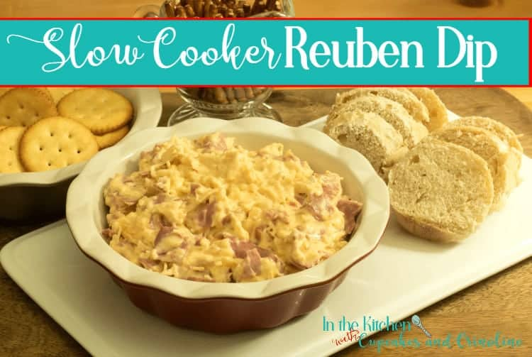 Perfect for entertaining during the holidays - this Easy to make creamy, hot and delicious Slow Cooker Reuben Party Dip. Double the batch if desired!
