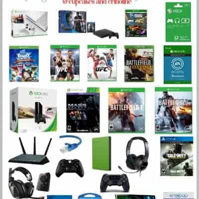 The Ultimate Gift Guide for Gamers - Everything from Big Ticket Items to Stocking Stuffers. Get all the details and recommendations at www.cupcakesandcrinoline.com