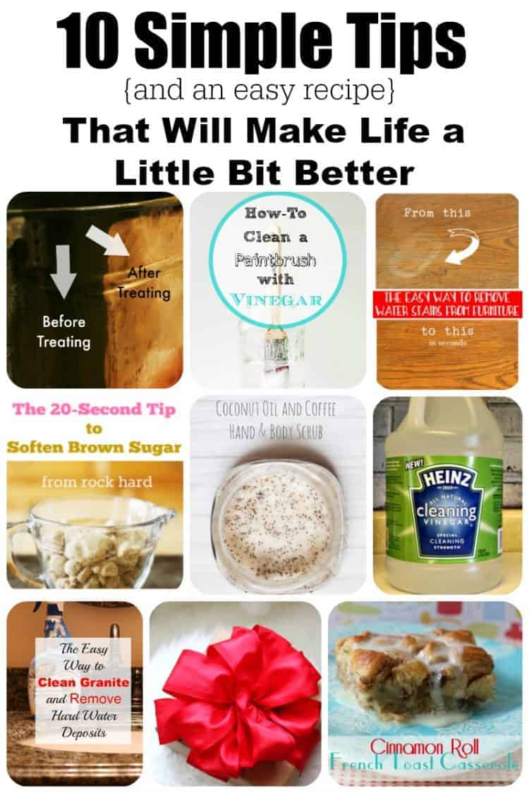 10 Simple Tips and tricks plus a simple recipe that will make your life a little bit better - everyday living with cupcakes and crinoline
