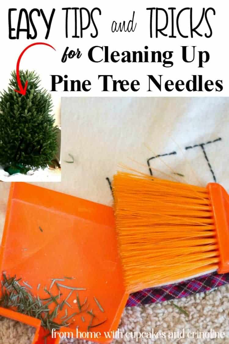 Easy Tips and Tricks - How to Clean Up Christmas Tree Pine Needles