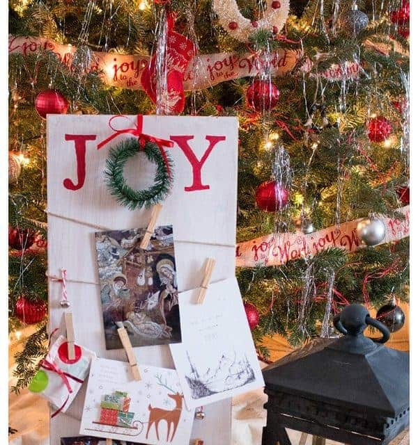 DIY Holiday Card Display