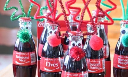 Googly-Eyed Reindeer Bottles