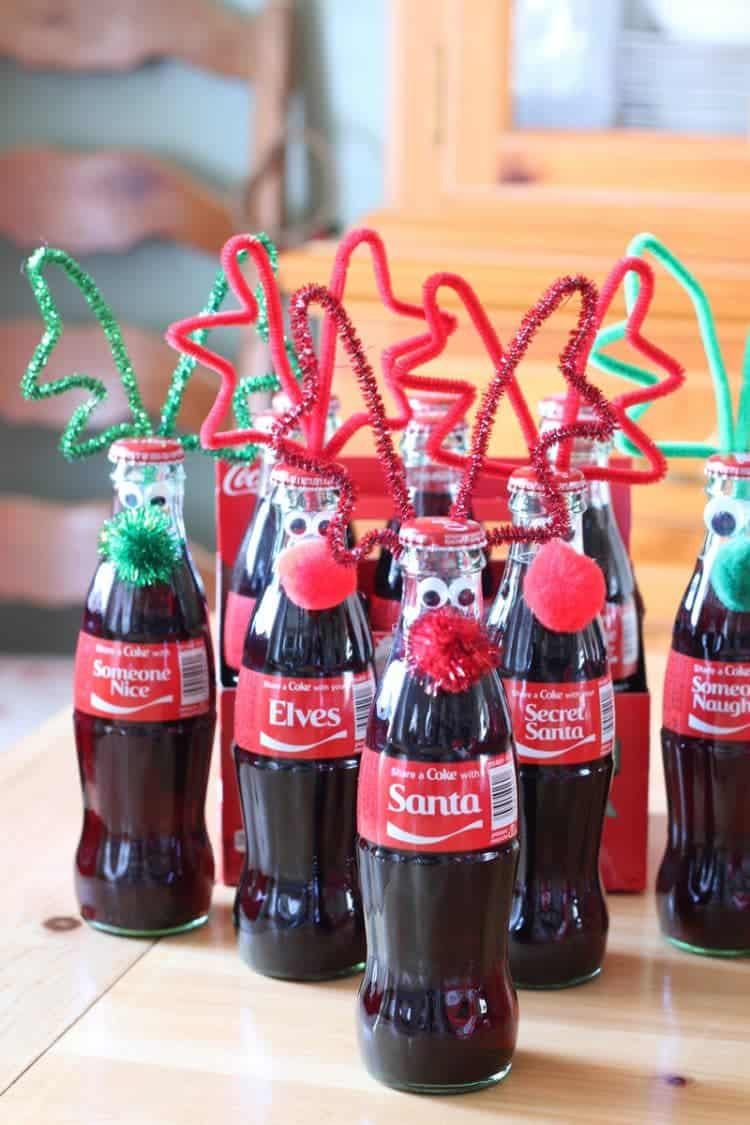 Googly Eyed Reindeer Bottles