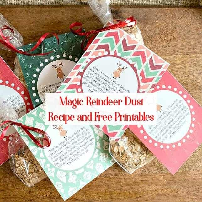 Sprinkle Magic Reindeer Food on the lawn on Christmas Eve - it creates a glittering path and a tasty snack for Rudolph and the other reindeer!