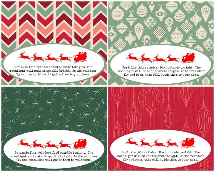 Magic Reindeer Food Poem and Printable