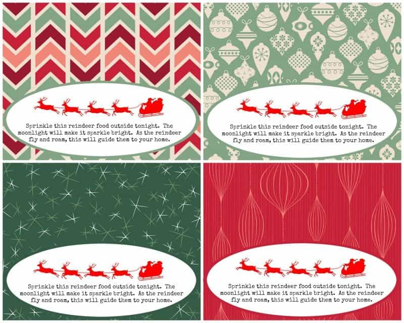 picture regarding Printable Reindeer Food Tags called Magic Reindeer Food stuff - Poem with Absolutely free Printables The How-Towards
