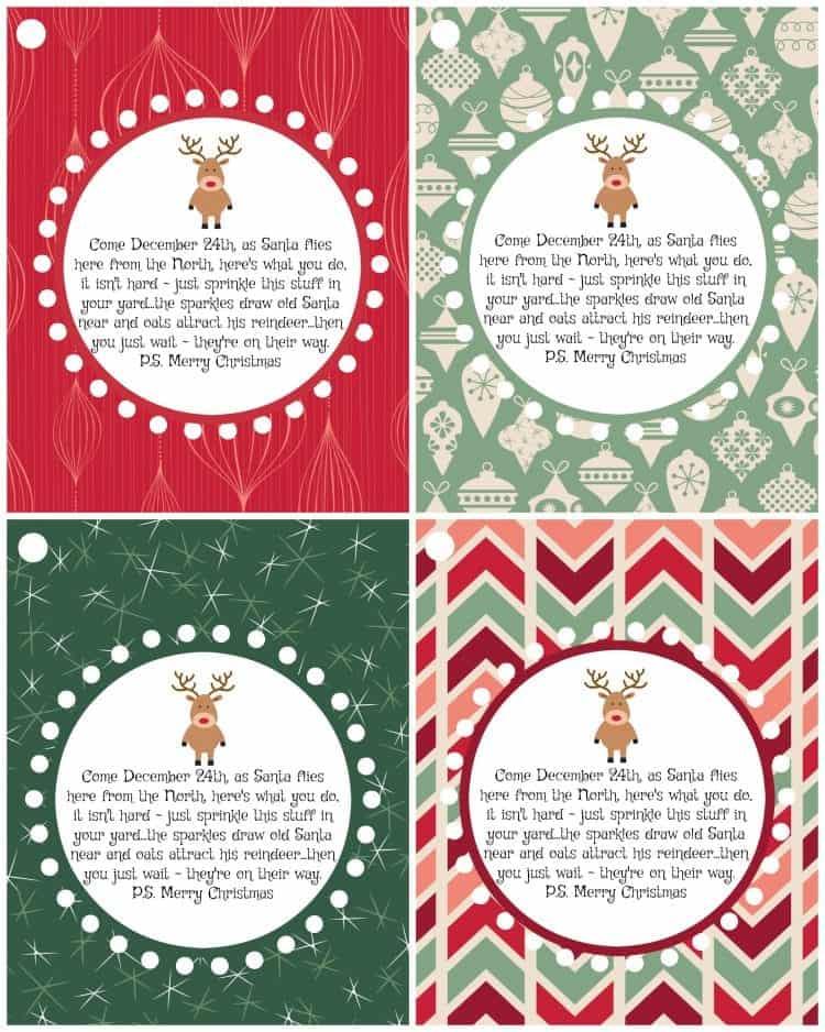 Magic Reindeer Food Poem and Printable