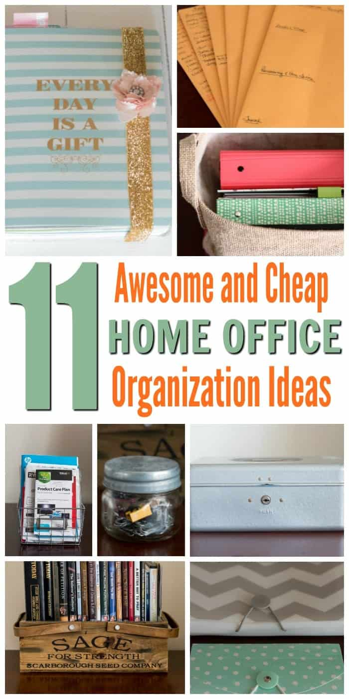 11 awesome and cheap home office organization ideas