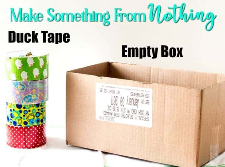 Make Something from nothing - organizing with old boxes and Duck Tape