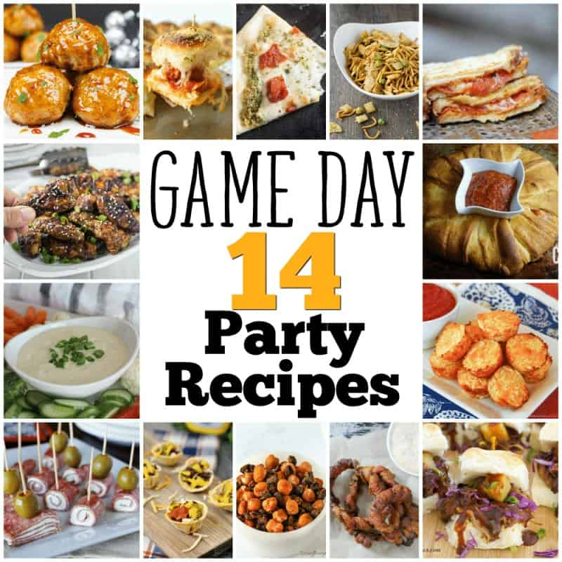 Game Day Party food recipes and ideas