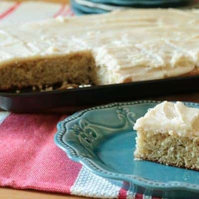 Banana Sheet Cake with Browned Butter Frosting