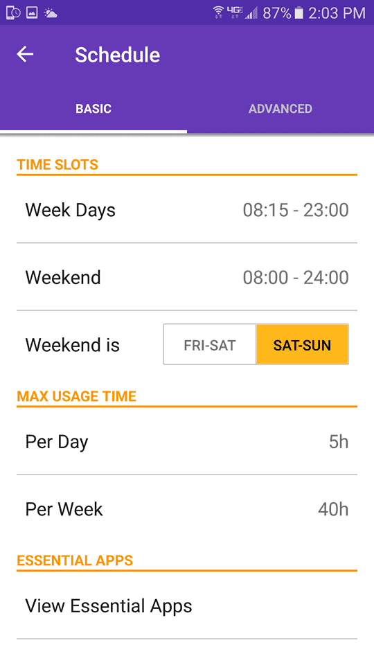 Schedule Ability with the TeenLimit App