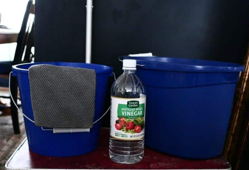 Vinegar and Water solution for washing walls - two-bucket method
