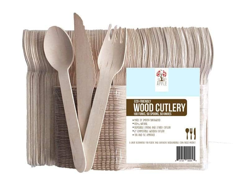 Wooden Disposable Cutlery - a great canvas for customizing cutlery for casual entertaining.