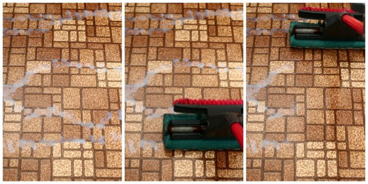 How To Make Your Linoleum Floors Sparkle Like New - waxing the floor