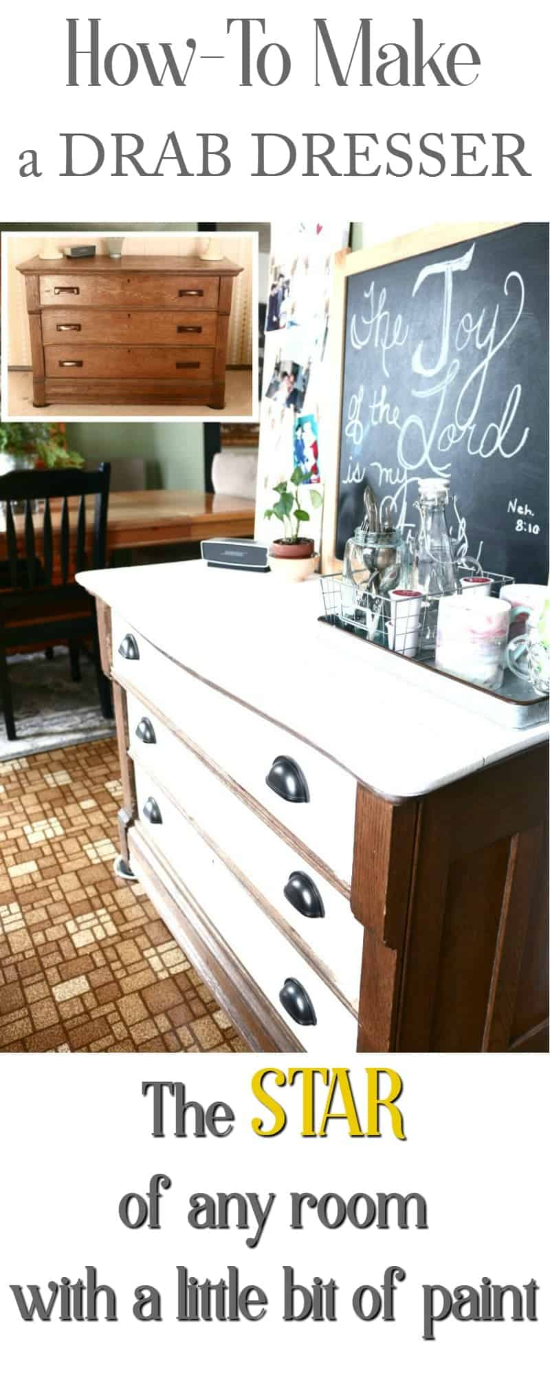 How-To Make a Drab Dresser the Star of Any Room with a little bit of paint