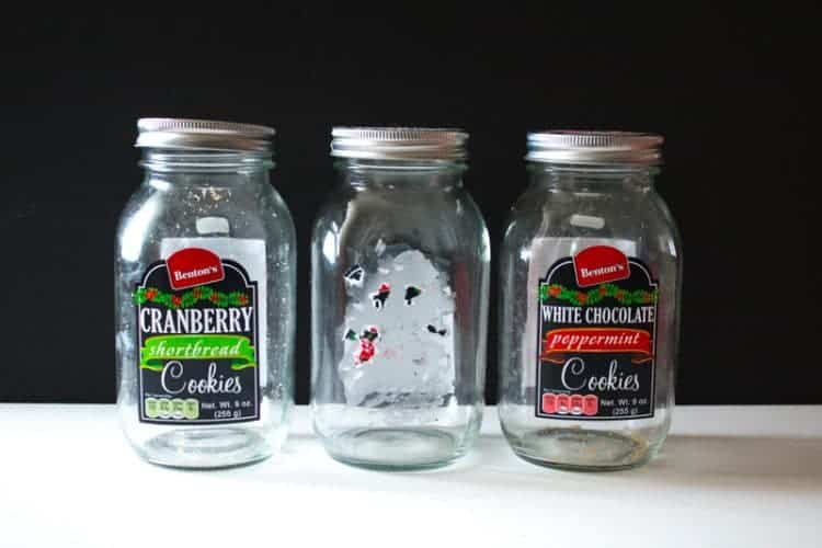 Nicely shaped glass jars - my test subjects for the best and easiest way to completely remove sticky labels from jars.
