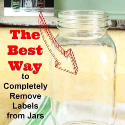 The Best Way to Remove Labels from Glass Jars