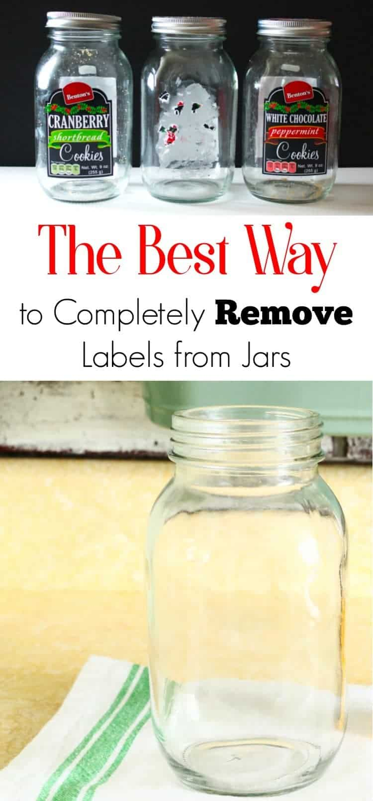 The absolute best and easiest way to remove label glue from glass jars. Reuse, repurpose and recycle with style!