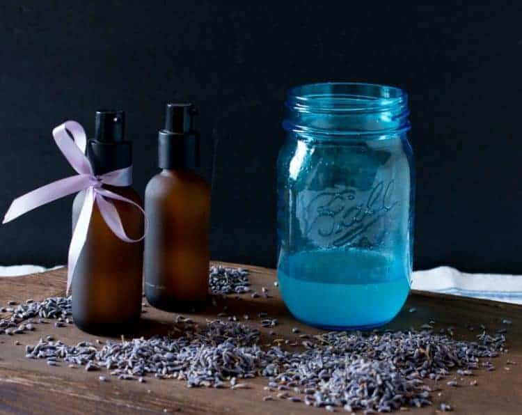 Bottles of DIY Lavender Pillow Spray