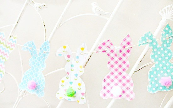 Paper Easter Bunny Banner