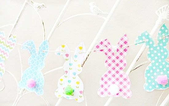 Paper Easter Bunny Banner