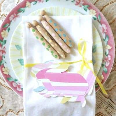 Sweet and Simple Easter Table Setting