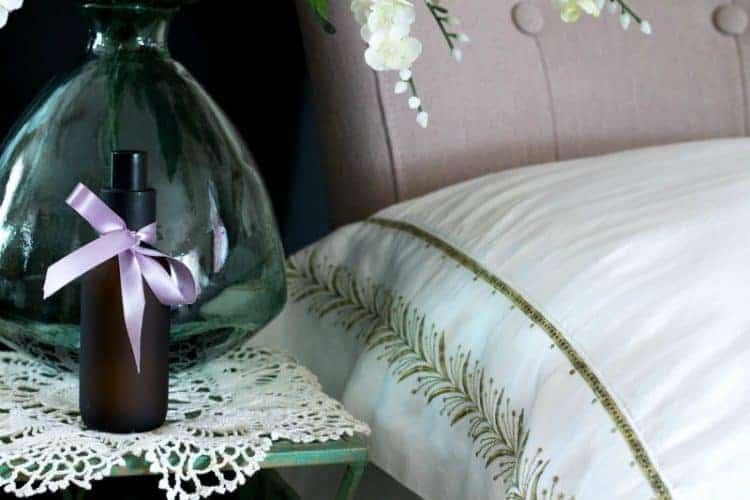 Freshen linens with this DIY lavender pillow spray.