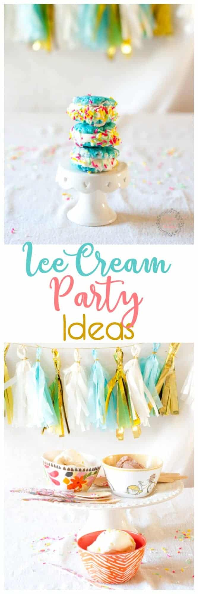 Sweet and Simple Ice Cream Party - Ideas for a Boho Shabby Chic Sprinkle filled extravaganza!