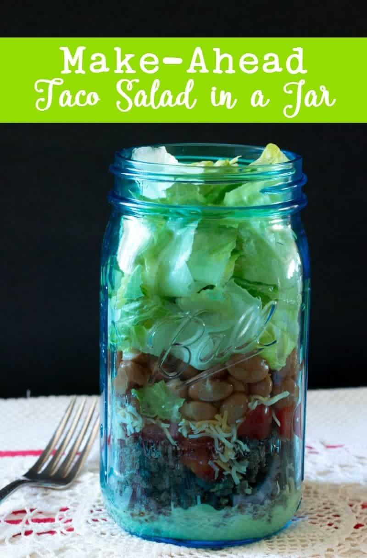 Make-Ahead Taco Salad in a Jar