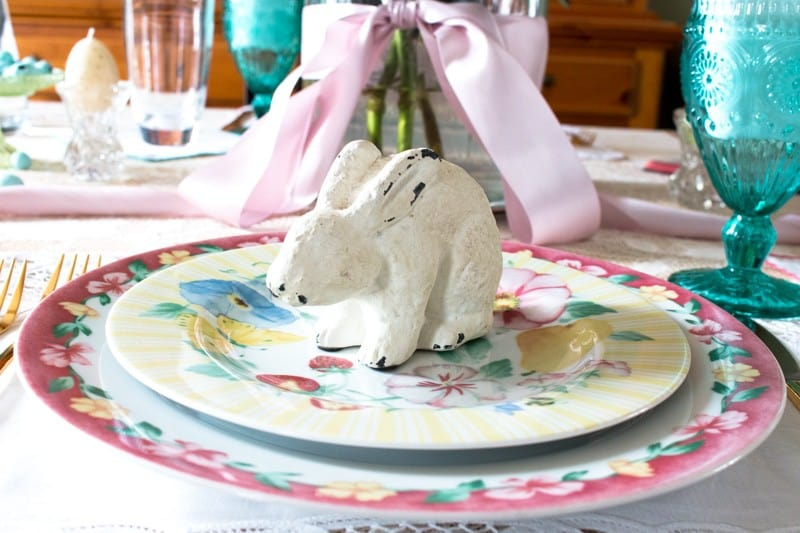 White Chalk Paint Rabbit