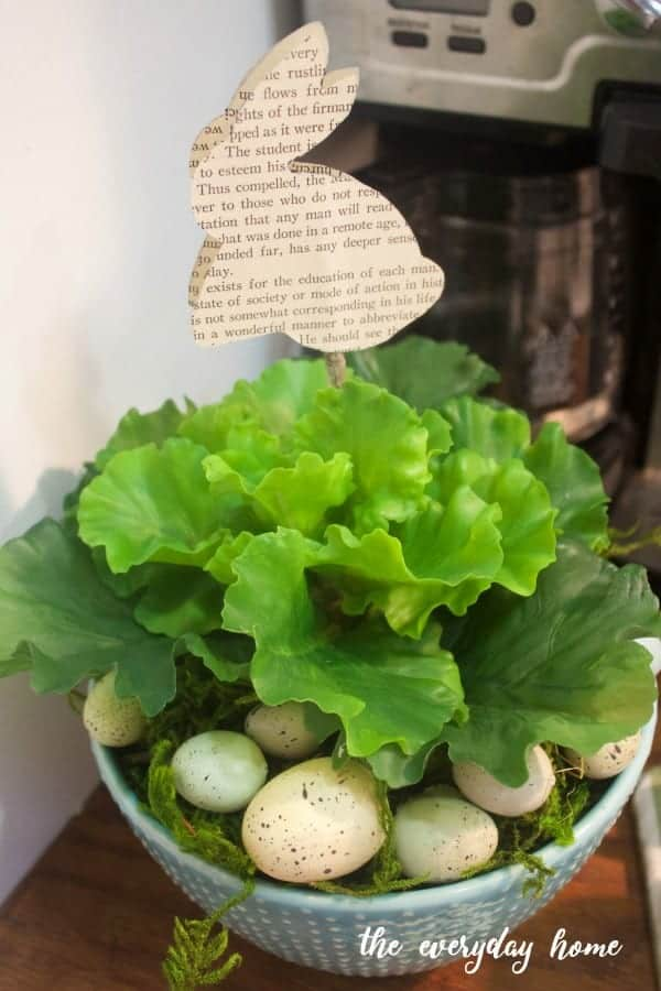 Spring lettuce and bunny from The Everyday Home