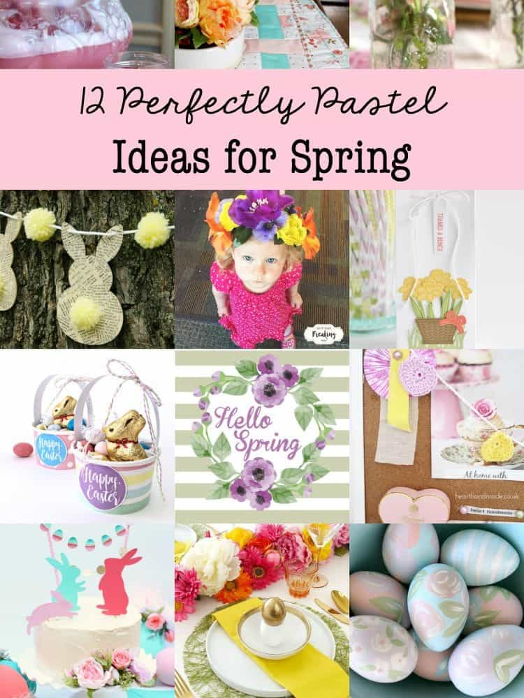 Freshen up your world with these 12 perfectly pastel ideas for spring. Ideas for home decor, crafting, DIY and entertaining!