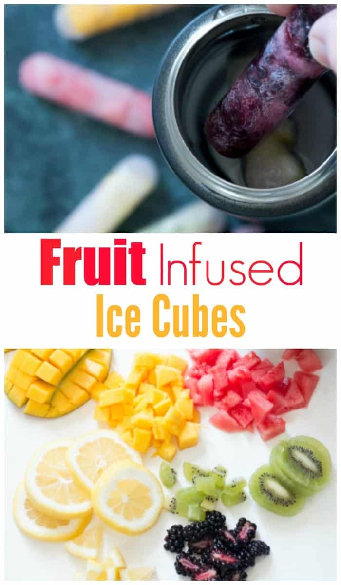 Stay hydrated with delicious fruit-infused ice cubes