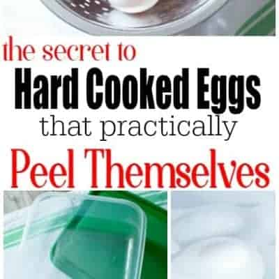 How-To:  The Easiest Way to Peel Hard Cooked Eggs