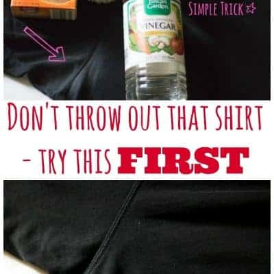 How to Remove Deodorant Stains from Dark Clothing