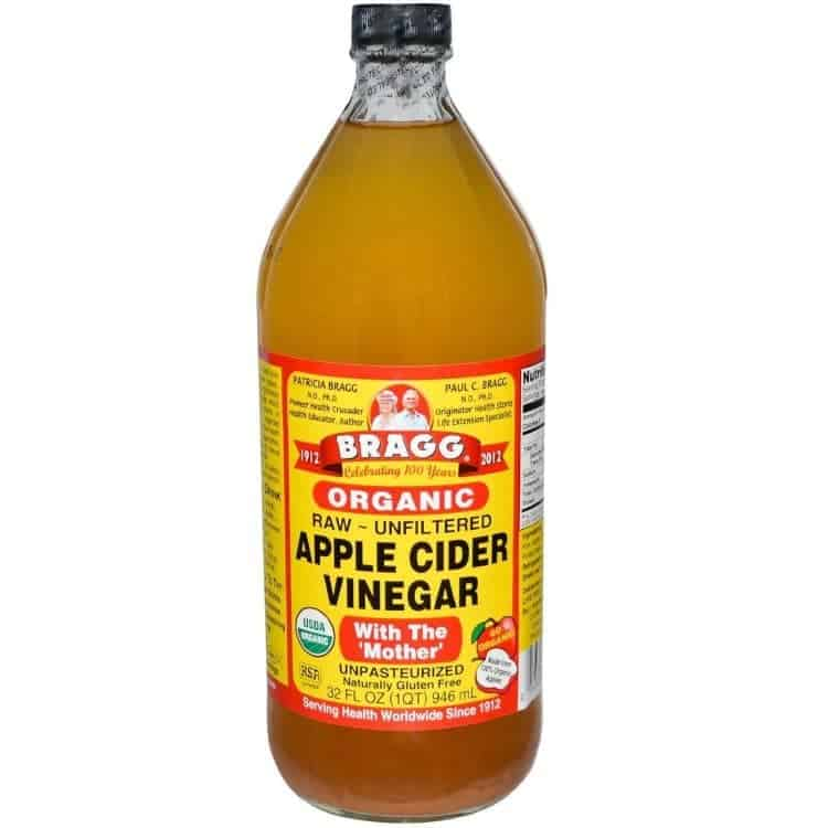 Bragg Apple Cider Vinegar - all natural sunburn treatment