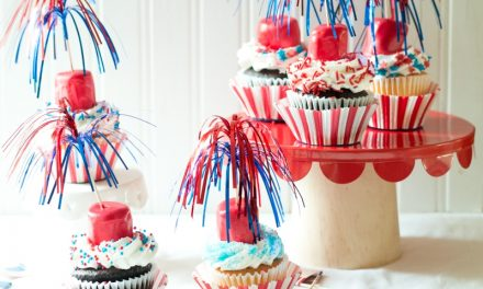 Easy to Make Firecracker Cupcakes