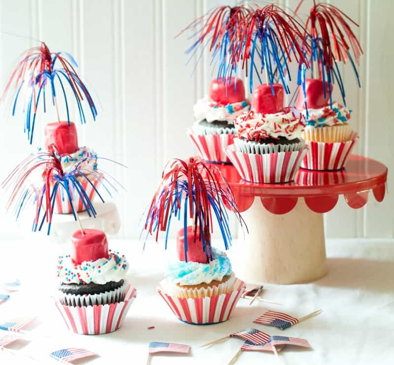 Firecracker Cupcakes ready for eating!