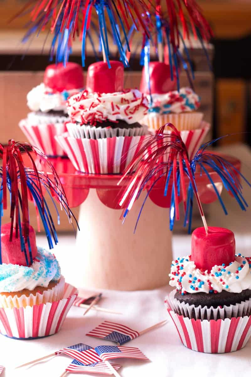 Firecracker Cupcakes on Display