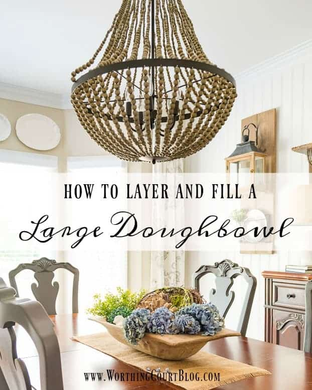 Fill a Dough Bowl with Seasonal Items - Farmhouse Style