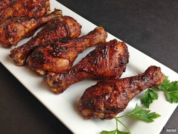 Spicy Honey Glazed Chicken Drumsticks