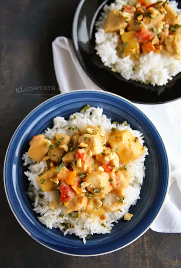 Thai Pineapple Peanut Chicken Easy Slow Cooker Recipe