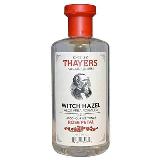 Thayers Witch Hazel with Aloe Vera - treating sunburn