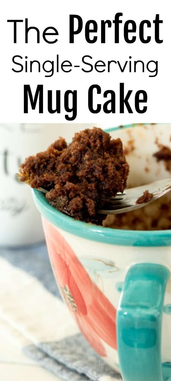 The perfect quick and easy mug cake. Ready in about 70 seconds.
