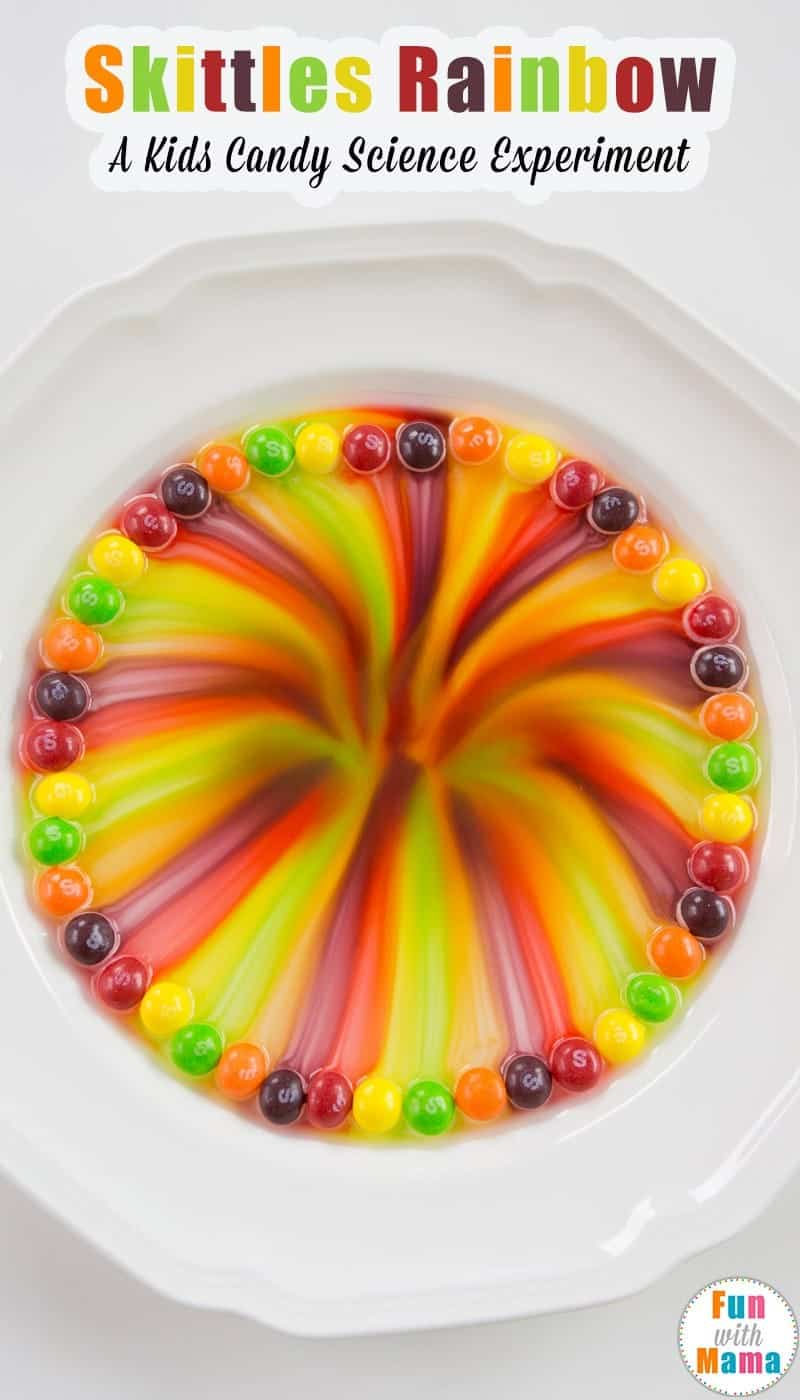 Skittles Candy Rainbow Kid's Science Experiment