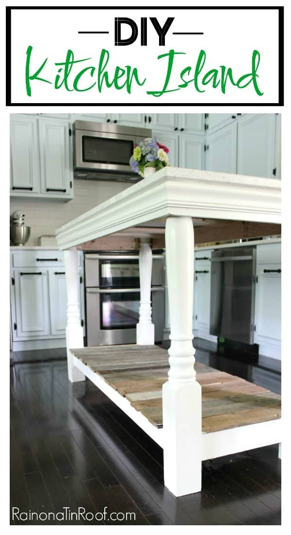 DIY farmhouse style kitchen island