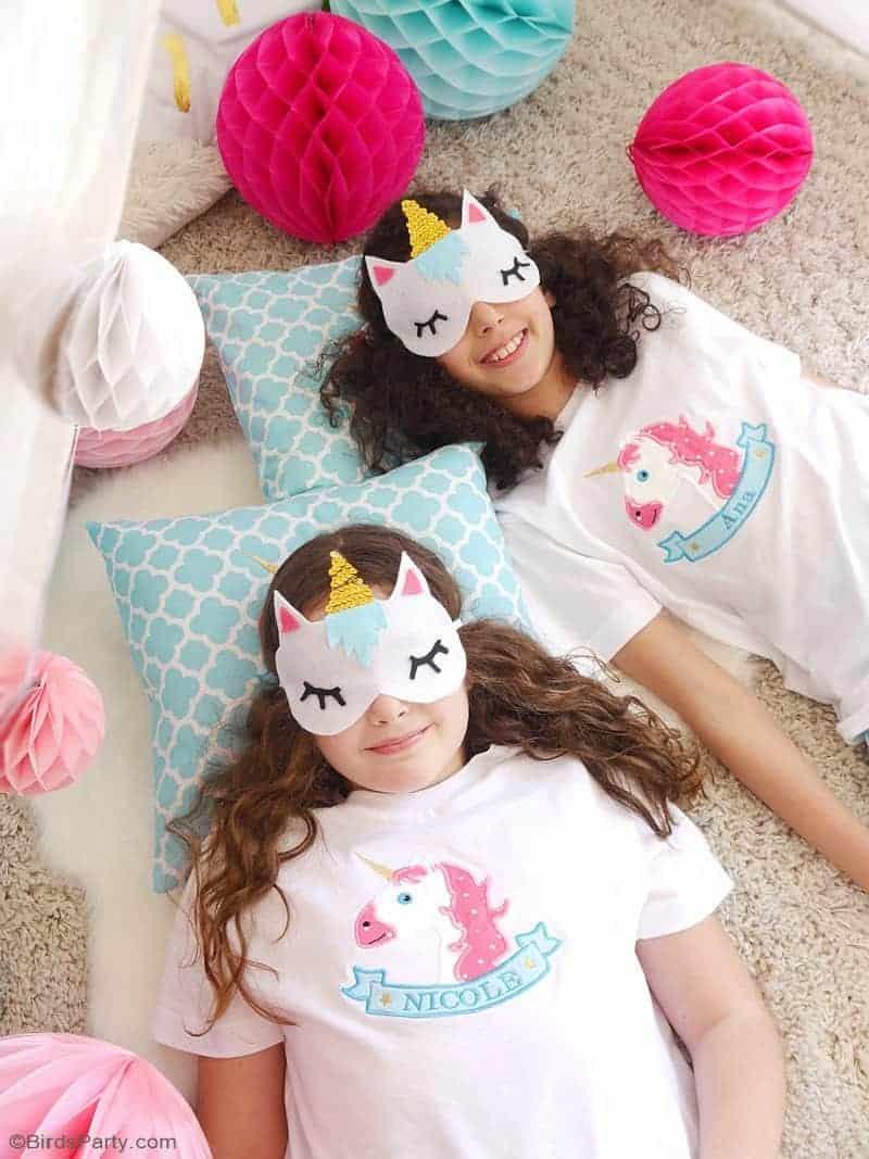 DIY Unicorn Sleeping Masks - free template and no sew