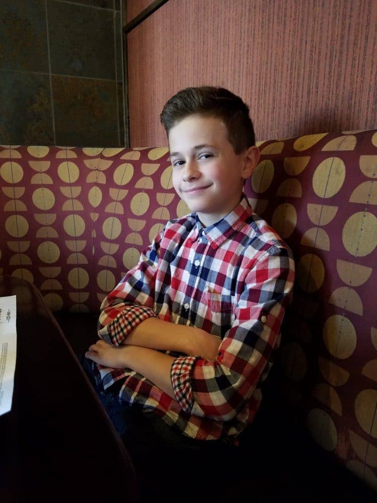 M on his last day of school - lunch date with me!