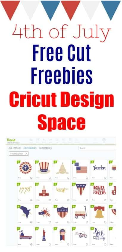 Cricut Design Space Free Cut until July 4th - Patriotic Goodies